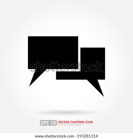 Black speech or comment bubbles on white background - stock vector