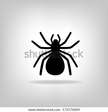 black spider on a white background - vector illustration - stock vector