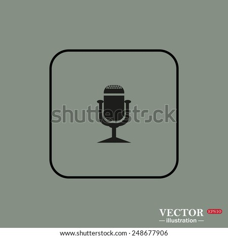 Black Square Frame On Green Background Stock Vector 248677906