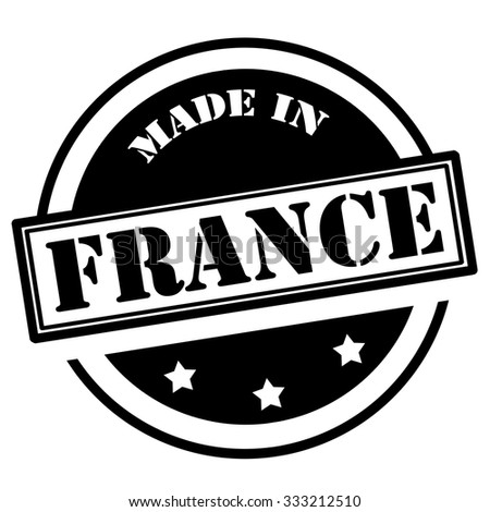 Black stamp with text Made in France,vector illustration - stock vector