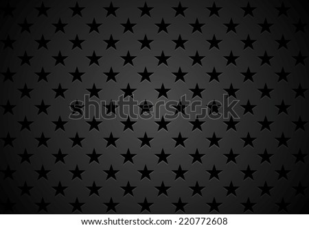 Black stars abstract background. Vector design