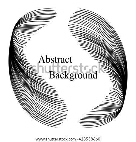 Black Striped Elements with Text in the Center.Abstract  Background. Template for  Labels,  Banners, Badges, Posters, Stickers and Advertising Actions. Vector Illustration - stock vector