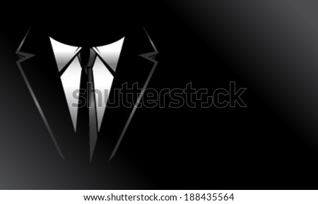 Black suit and tie background