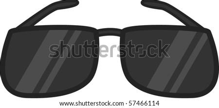 black sunglasses - stock vector