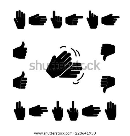 Black Symbols � Hands - stock vector