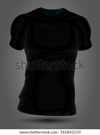 Black T shirt - stock vector