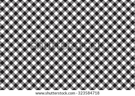 black tablecloth diagonal background seamless pattern vector of traditional gingham dining cloth with fabric