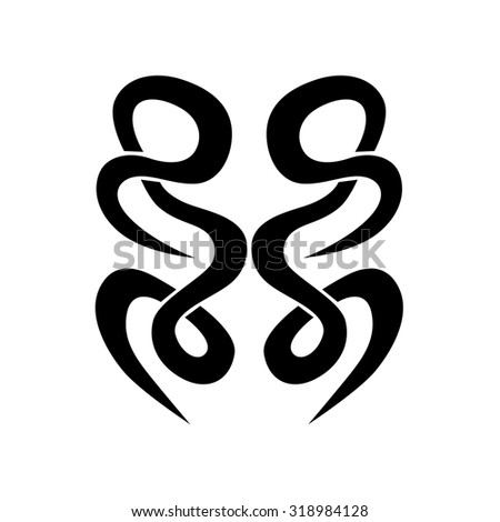 Black Tattoo, Pattern, Ornament on white background