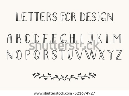 Decorative Calligraphy Alphabet Letters From