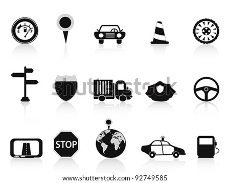 black traffic icon - stock vector
