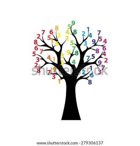 Black tree and colored numbers
