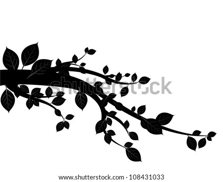 black tree vector.