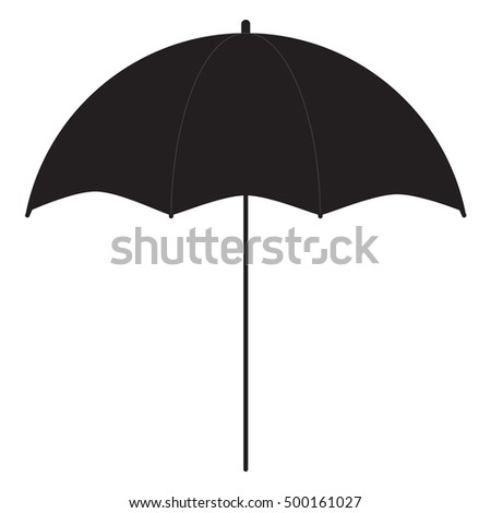 Black umbrella for photography equipment flat vector image isolated on white