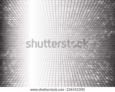 Black Vector abstract design. pixels mosaic background computer graphic website and internet.  - stock vector
