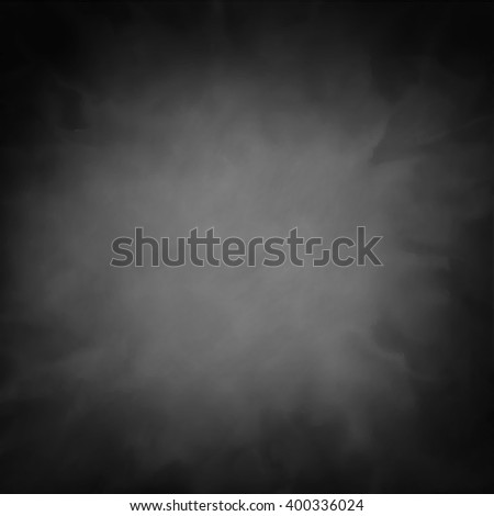 black vector background texture with smoky cloudy white or gray center with dark vignette border, wispy gray smoke center with dark edges - stock vector