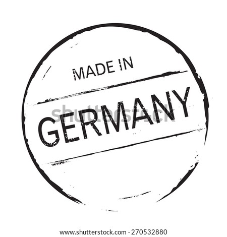 Black vector grunge stamp MADE IN GERMANY - stock vector