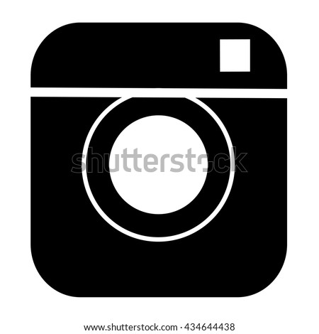 Black vector icon for website