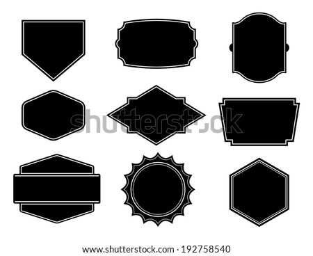 Black vector shape, template for create a business logo - stock vector