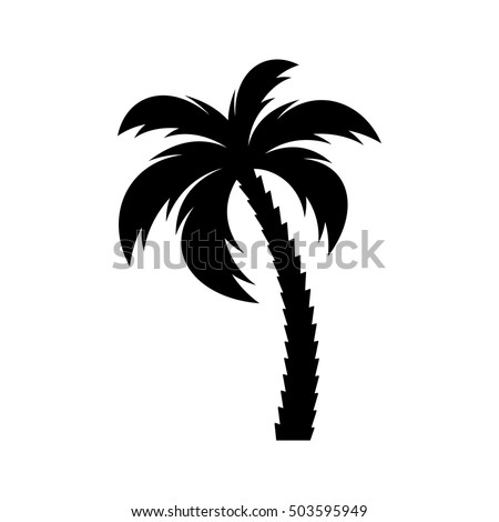 black vector single palm tree silhouette stock vector  royalty free  503595949 shutterstock free palm tree vector art free palm tree vector ai