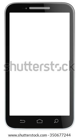 Black Vector Smartphone. Non branded classic Black Smartphone. Vector EPS 10. - stock vector