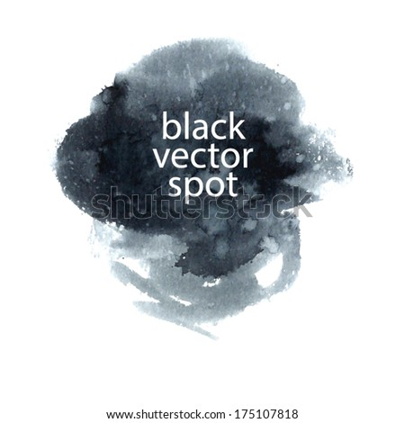 black vector spot - stock vector