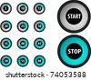 Black vector timer set - stock vector