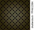 black vintage pattern with radial gradient - vector - stock vector