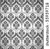 Black Wallpaper pattern, seamless - stock vector