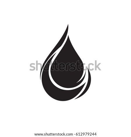 Black Water Drop Icon Stock Vector 449737537 - Shutterstock