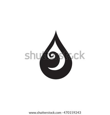 Black Water Drop Icon Water Drop Stock Vector 470159243 ...