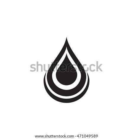 Black Water Drop Icon Water Drop Stock Vector 471049589 ...