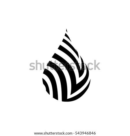 Black Water Drop Icon Water Drop Stock Vector 543946846 Shutterstock