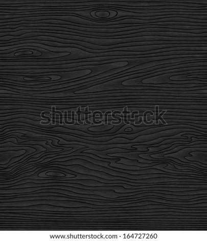 black waves lines wood pattern  - stock vector
