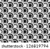 Black&white abstract seamless pattern (vector version) - stock vector