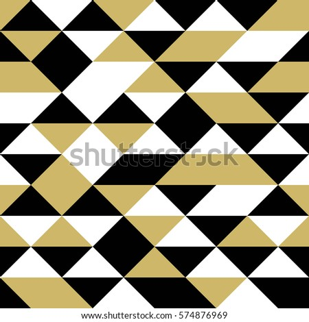 black white gold triangles seamless abstract stock vector 574876969 shutterstock. Black Bedroom Furniture Sets. Home Design Ideas