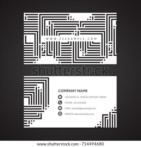Black white business card template 2 stock vector hd royalty free black white business card template 2 colourmoves
