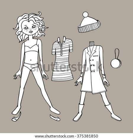 paper doll template woman - woman tight jeans stock photos royalty free images