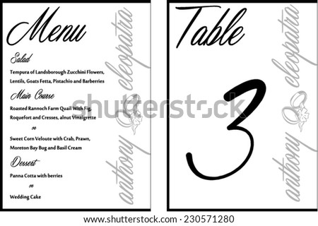 Abstract wedding invitation card rsvp vector stock vector black white elegant wedding invitation vector card template stopboris Images