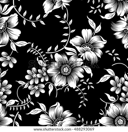 Black White Flowers St...