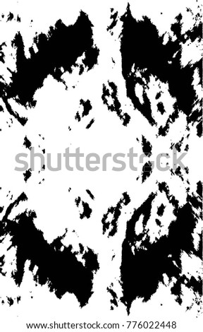 Black White Grunge Vector Texture Background. Easy To Create Distressed,  Scratched, Vintage