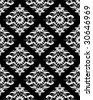 black & white pattern vector - stock photo