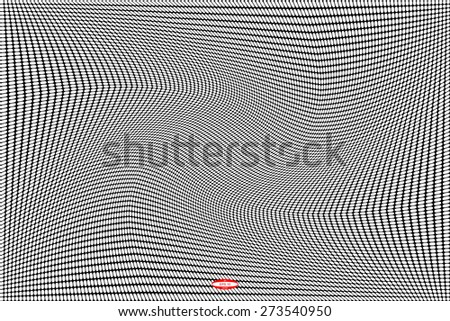 black white pattern with rhombus. vector illustration