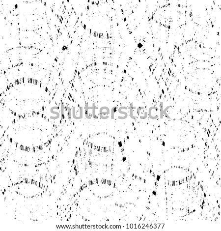 Black-White Seamless Grunge Dark Distressed Pattern. Abstract Ink Overlay. Endless Vector Background. Dots, Spots, Noise, Scratches, Cracks, Stain, Dirt, Spray Paint. Weathered Stylish Chaotic Effect