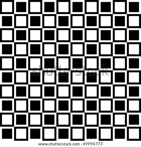 Black White Seamless Vector Pattern - stock vector