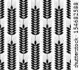 black & white wheat seamless pattern - stock