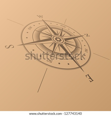 Black wind rose on white background