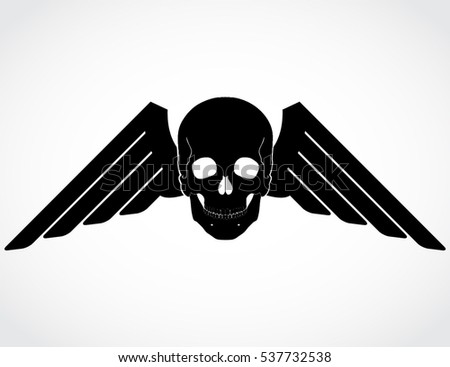 Skull Crossed Guns Black White Vector Stock Vector ...