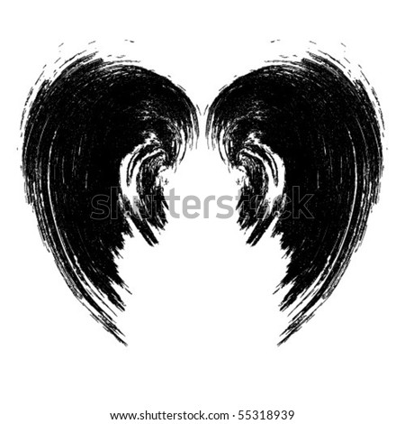 black wings - stock vector