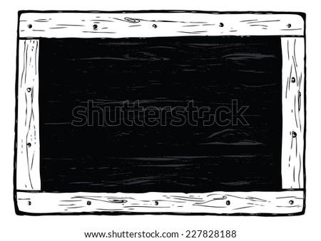 Black wooden board - stock vector