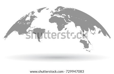Black world map globe isolated vector vector de stock729947083 black world map globe isolated vector gumiabroncs